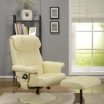 Kings Brand Cream White Massage Recliner